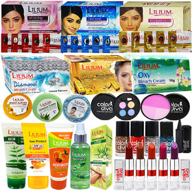 Lilium Herbal Skin Care With Makeup Care Product Pack of 26-GC717