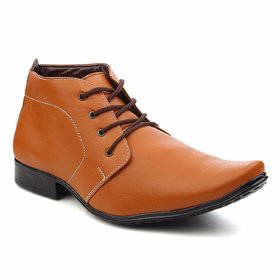 OORA Men's Pu Leather Boots Brown, Black, Tan  Beige Colour Ankle Length Office Wear Formal Shoes for Men