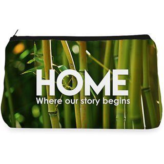 RightGifting Green bamboo Make up Pouch