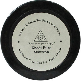 Khadi Pure Herbal Jasmine Green Tea Foot Crack Cream with Sheabutter - 50g