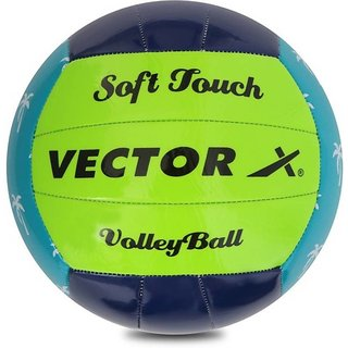 Vector X Soft Touch Volleyball (18 Panels) (Multicolor)