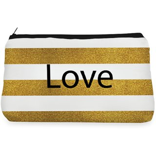 RightGifting Glitter golden love Make up Pouch