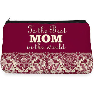 RightGifting Maroon lace mom Make up Pouch