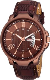 Men Watch For Tc 171 Brown Day And Date Watch For Men