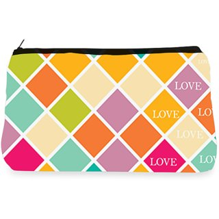 RightGifting Multicolor blocks Make up Pouch