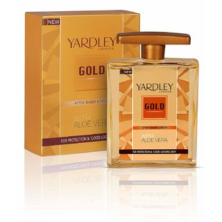Yardley Gold After Shave Lotion with Aloe Vera 100ml