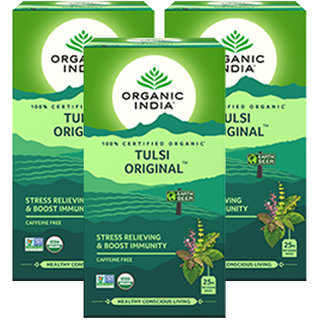 Organic India Tulsi Original 25 Tea Bag- (Pack Of 3)