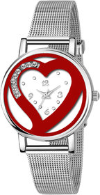 True Colors Love Red Hart Dail Women Analog Watch For Girls Watch