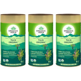 Organic India Tulsi Original 100 GM Tin- (Pack Of 3)