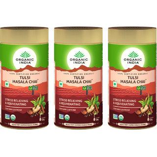 Organic India Tulsi Masala Chai 100 GM Tin- (Pack Of 3)