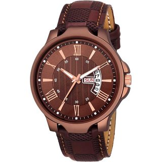 Men Watch For Tc 171 Brown Day And Date Latest Watch For Men