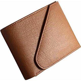 3 Bros Design Tan Mens Leather RFID Blocking Wallet (Black)