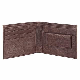 3 Bros Mens Brown PU Artificial Leather Wallet