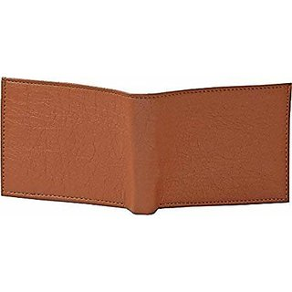 3 bROS PU Artificial Leather Tan Mens Wallet