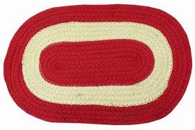 Azaani Home Need Red Cotton Doormat- 48 x 30 cm