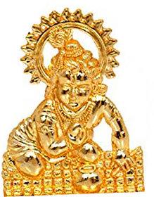 Gold plated Laddu Gopal Idol - 7 cms