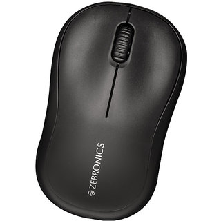 Zebronics COMFORT USB Wired Optical Mouse  Black