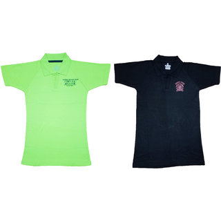 Yorker Cotton Polo T shirts For Boys Multi-Coloured Pack Of 2