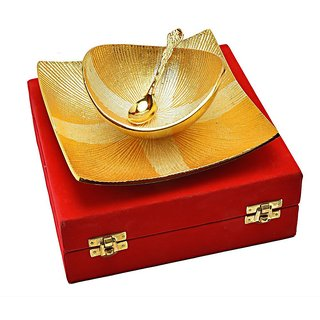 NKSUNNY Attractive Silver  Gold Plated Stylish Bowl Set 3 Pcs.