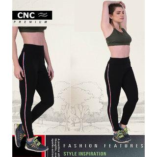 CNC Contrast Side Tape Jeggings Black
