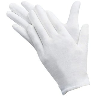 DIY Crafts DIY Crafts10 Pairs Slim Lightweight Soft Elastic Cotton Protective Working Glove White Coin Jewelry Silver Inspection Gloves,Medium Size