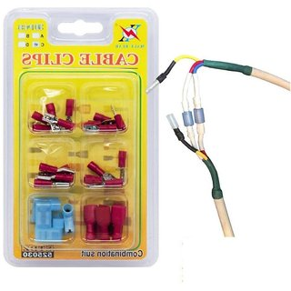 DIY Crafts Works Multi Type Insulated Terminal Connecting Cable Clips
