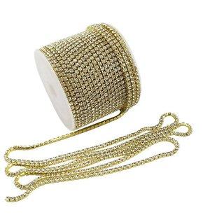 DIY Crafts 11 Yards Crystal Rhinestone Close Chain Trimming Claw Chain