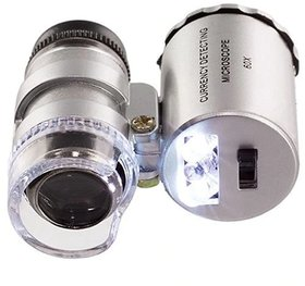 DIY Crafts 60X Pocket Microscope Magnifier Loupe led Magnifing
