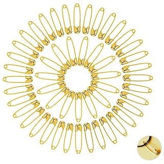 DIY Crafts Safety Pins Set Durable, Rust-Resistant Gold Plated/0.75 Inch(Pack of 2000)