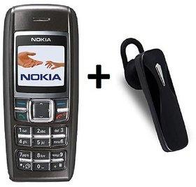 Refurbished  Nokia 1600 Single Sim  Bluetooth Feature Phone