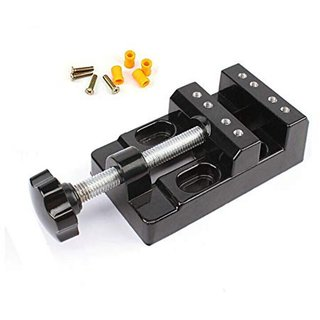 DIY Crafts Vises Universal Mini Walnut Vise Clamp Table Bench Vice For Jewelry Nuclear Clip On DIY Carving Tool