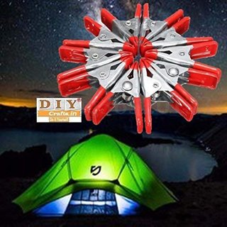 DIY Crafts 12Pc Spring Awning Clamp Tarp Clips Snap Hangers Clamp Tent Car  Boat