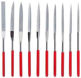 DIY Crafts Needle File Set 10 Piece 10 PCS Diamond Needle File Set for Guitar Frets Soft Metal Wood and Plastic