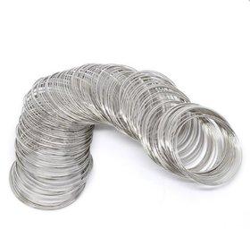 DIY Crafts Memory Beading Wire Bracelet Rigid Steel(Pack of 100 pcs)