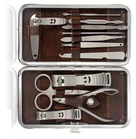 DIY Crafts Manicure Set Kit 12 Pcs Nail Care Clipper Pedicure Scissor Tweezer