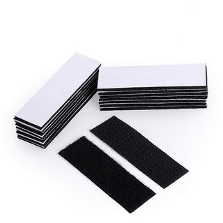 DIY Crafts 25 - Pack Upgrade Hook Loop Adhesive Tape Self - Adhesive Mounting Sticky Double-Sided Mounting Fasten Tape Interlocking Tape for Fabric Hold Picture (5