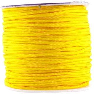 DIY Crafts Yellow Nylon Satin Cord, Rattail Trim Thread(1mm, 109 Yards)