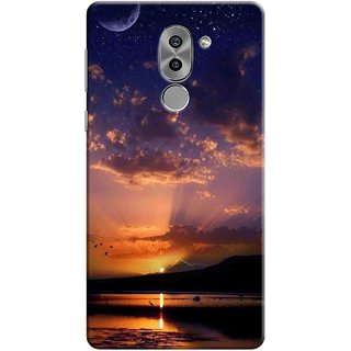 Digimate Printed Designer Soft Silicone TPU Mobile Back Case Cover For Huawei Honor 6X Design No. 1003