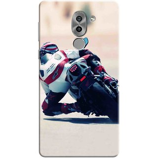 Digimate Printed Designer Soft Silicone TPU Mobile Back Case Cover For Huawei Honor 6X Design No. 0210