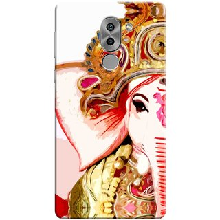 Digimate Printed Designer Soft Silicone TPU Mobile Back Case Cover For Huawei Honor 6X Design No. 0618