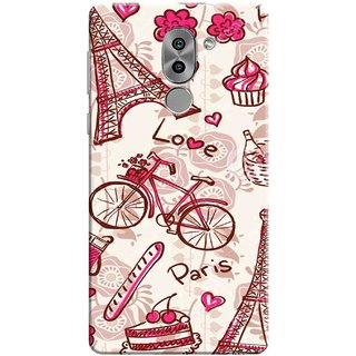 Digimate Printed Designer Soft Silicone TPU Mobile Back Case Cover For Huawei Honor 6X Design No. 0246
