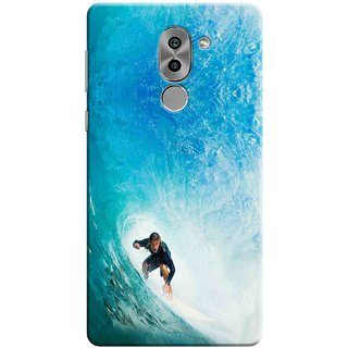 Digimate Printed Designer Soft Silicone TPU Mobile Back Case Cover For Huawei Honor 6X Design No. 1036