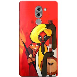Digimate Printed Designer Soft Silicone TPU Mobile Back Case Cover For Huawei Honor 6X Design No. 0651