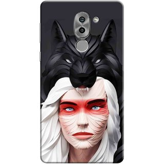 Digimate Printed Designer Soft Silicone TPU Mobile Back Case Cover For Huawei Honor 6X Design No. 0276