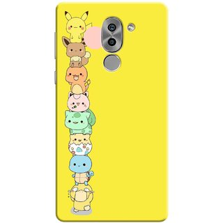 Digimate Printed Designer Soft Silicone TPU Mobile Back Case Cover For Huawei Honor 6X Design No. 1062