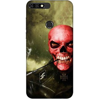 Digimate Printed Designer Soft Silicone TPU Mobile Back Case Cover For Huawei Honor 7C Design No. 0287