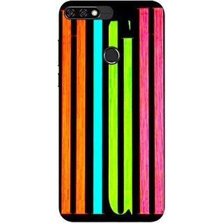Digimate Printed Designer Soft Silicone TPU Mobile Back Case Cover For Huawei Honor 7C Design No. 0293