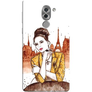 Digimate Printed Designer Soft Silicone TPU Mobile Back Case Cover For Huawei Honor 6X Design No. 0714