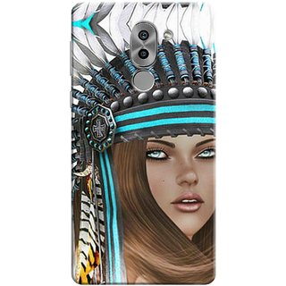 Digimate Printed Designer Soft Silicone TPU Mobile Back Case Cover For Huawei Honor 6X Design No. 1143