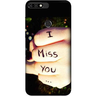 Digimate Printed Designer Soft Silicone TPU Mobile Back Case Cover For Huawei Honor 7C Design No. 0309